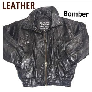 😎Bomber jacket -GENUINE LEATHER Jacket